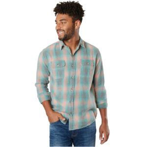 NWT Free Nature Plaid Flannel Shirt in Green Multi